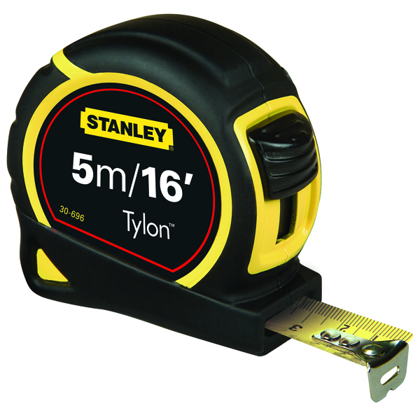 Image for Stanley Retractable Tape Measure With Belt Clip 5 Metre 0-30-696