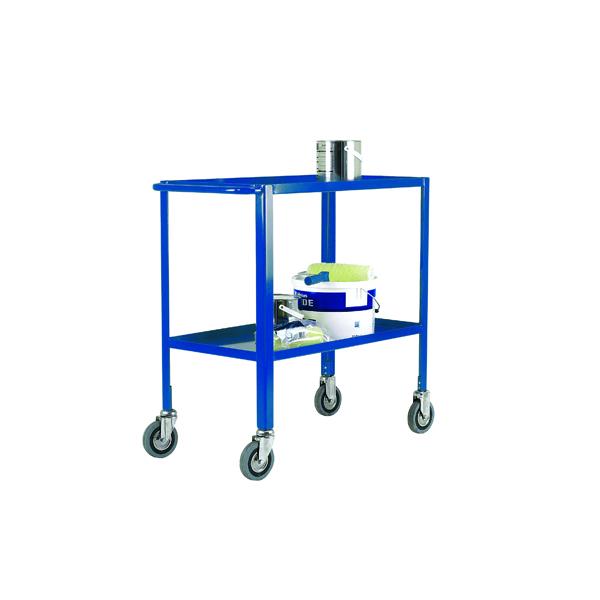 VFM Blue Service Trolley 2-Tier With 125mm Castors 306750