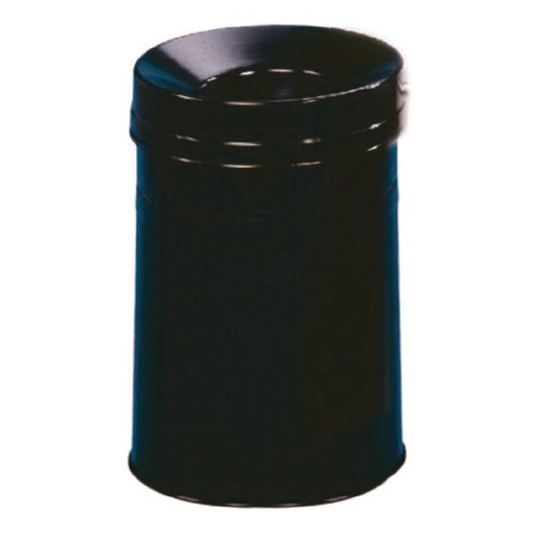 Black Waste Bin 30.9 Litre Fire Extinguishing Lid 309588