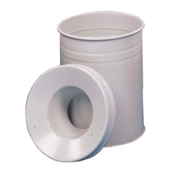 Waste Bin 30.9 Litre Fire Extinguishing Lid Grey 309589