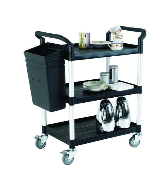 Image for Black Open Service Trolley Cart 309620