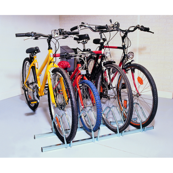 Cycle Rack 3-Bike Capacity Aluminium 309715