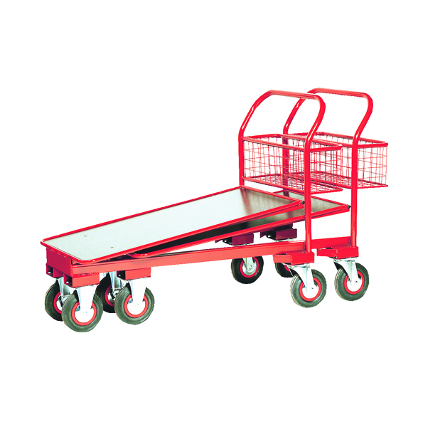 Red Nesting Cash and Carry Trolley 750kg (Pack of 1) 310791