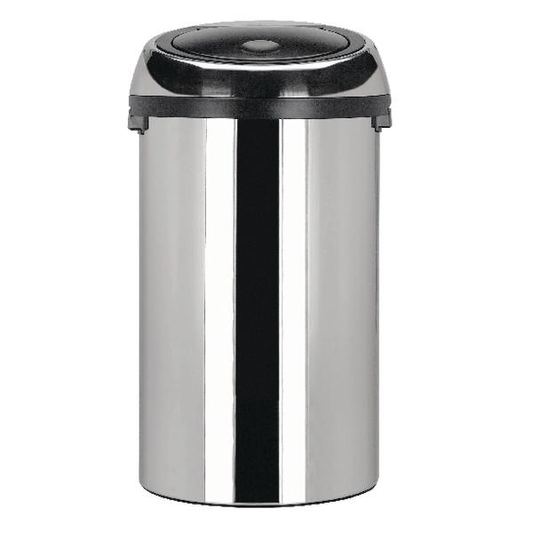 Touch Top Waste Bin 50 Litre Steel 311734