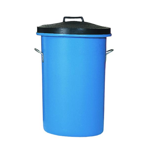 Heavy Duty Cylindrical Storage Bin With Lid Blue 311962
