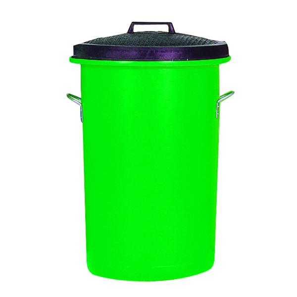 Heavy Duty Coloured Dustbin 85 Litre Green 311965