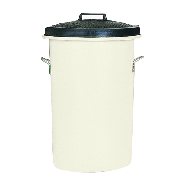 Heavy Duty 85 Litre White Coloured Dustbin 311967