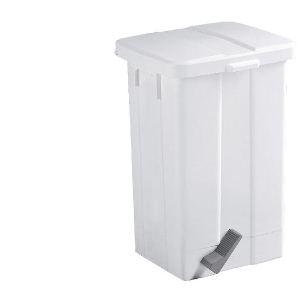 50 Litre White Pedal Bin 312252