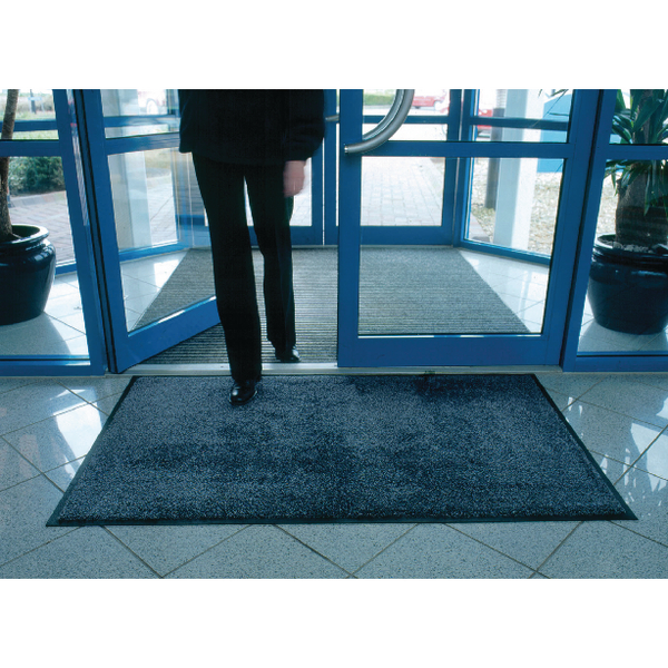 VFM Black /Brown Economy Washable Entrance Mat 1150x1750mm 312429