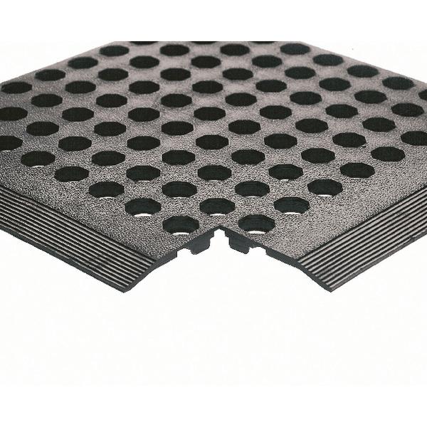 Rubber Worksafe Mat Black 312476 (Pack of 3)