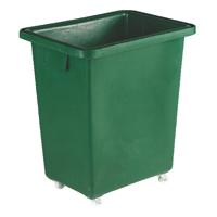Green Tapered Sides Food Grade 141 Litre Truck Container (Pack of 1) 316355