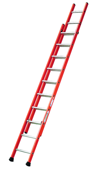 Glass Fibre Ladder 2 Sections 2x12 Treads 316752