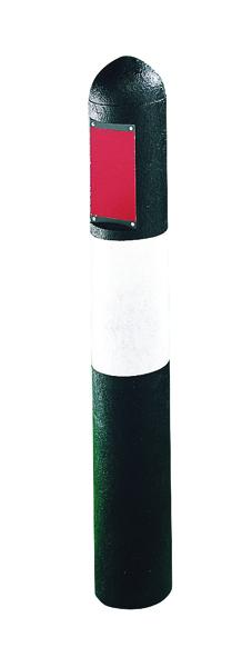 Recycled Plastic Bollard Hazard H1000mm Black/White 317408