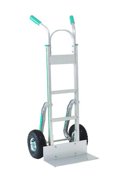 Stair climbing Hand Truck Low-Friction Skids Pneumatic Tyres Aluminium 317672