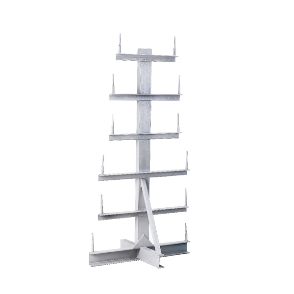 Image for Bar Storage Rack Double Side 350kg/Arm Grey 318943