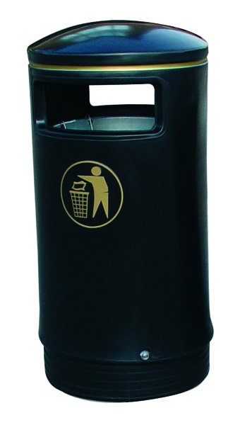 Black and Gold Victorian Hooded Top 75 Litre Bin 321770