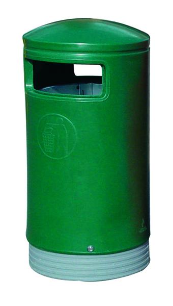 Green Outdoor Hooded Top Bin 75 Litre 321771