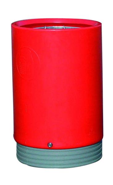 Red Outdoor Open Top Bin 75 Litre 321778