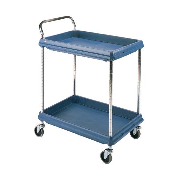 2 Tier Blue H1041x W984xD689mm Deep Ledge Trolley 322448