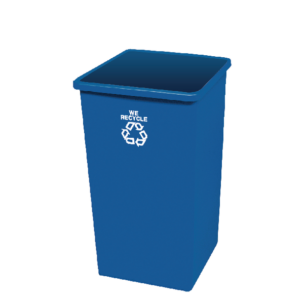Paper Recycling Bin Base 132.5L Blue 324161 (Lid not included Pack)