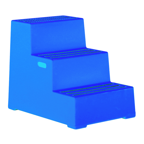 Plastic Safety Step 3 Step Blue 325098