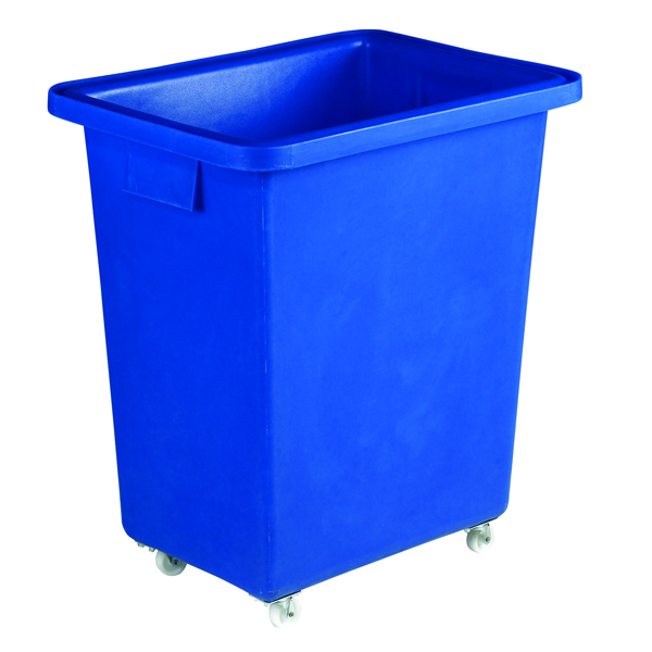 Bottle Skip 580X410X700mm 4X50mm Swivel Blue 328218