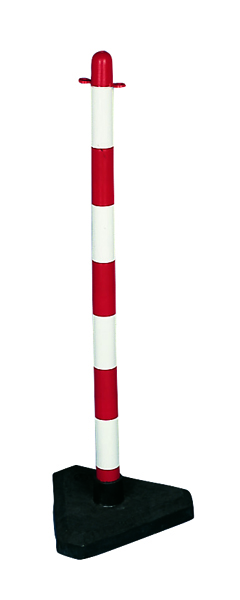 VFM Red/White Free standing Post With Triangular Weighted Base 328267