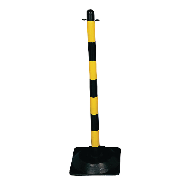 VFM Yellow/Black Freestanding Post With Triangular Weighted Base 328271