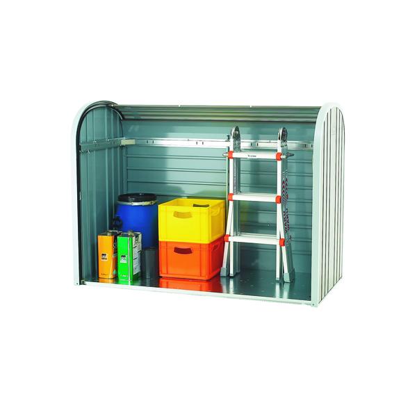 VFM Metallic Silver Outdoor Storage Locker 2-Piece Roller 328664