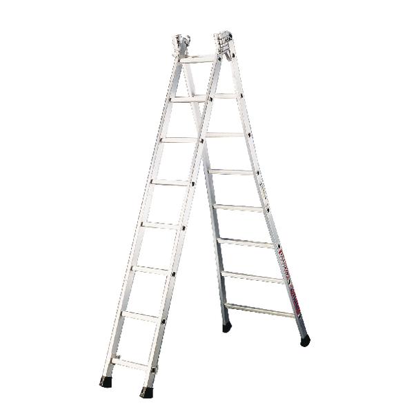Transformable Aluminium Ladder 2x8 Rungs 328808