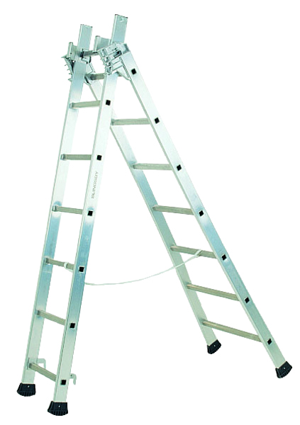Transformable Aluminium Ladder 3 Section 4.9m 329050