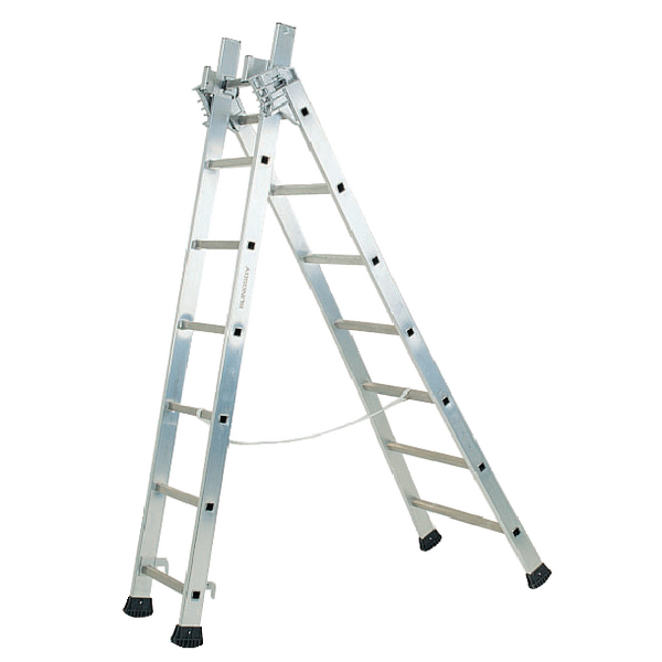 Transformable Aluminium Ladder 3 Section 6.9m 329052