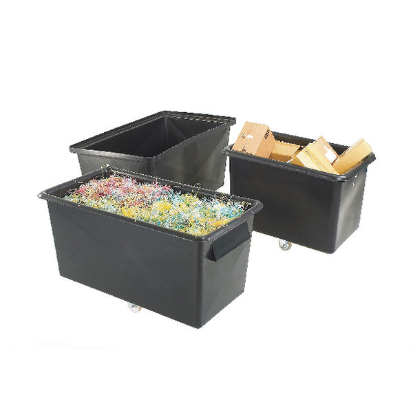 Recycled Container Truck Poly Straight Sided Black 329095