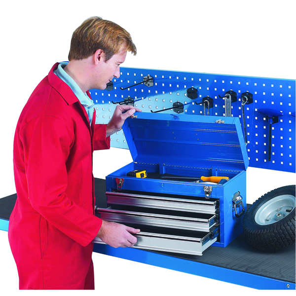 Image for Tool Chest 3 Drawer Blue 329228