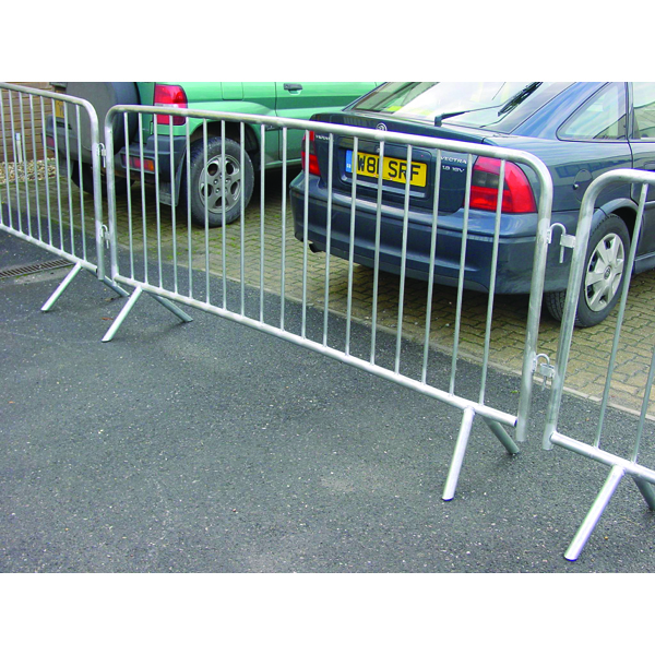 VFM Silver Crowd Control Barrier 1120x2470mm 329358