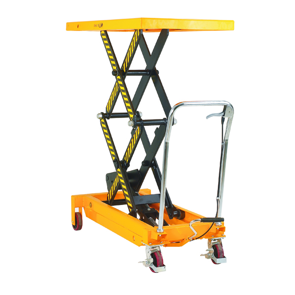 Yellow and Black Mobile Lifting Table 800kg Capacity 329464