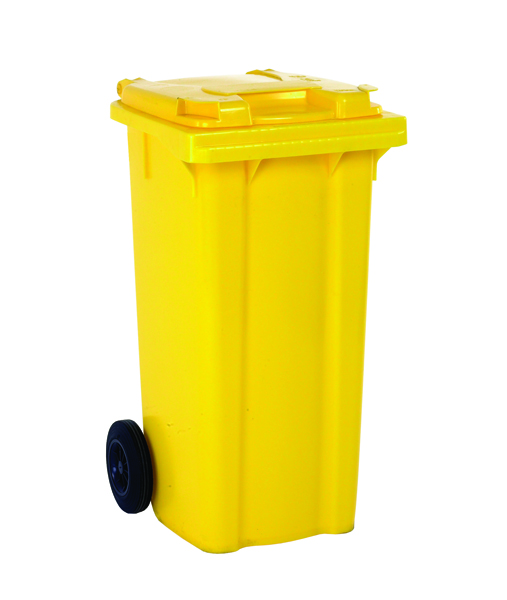 Yellow 2 Wheel Refuse Container 240 Litre 331193