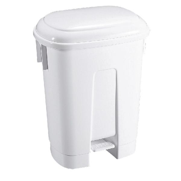 Derby Plastic Pedal Bin 60L White 348011