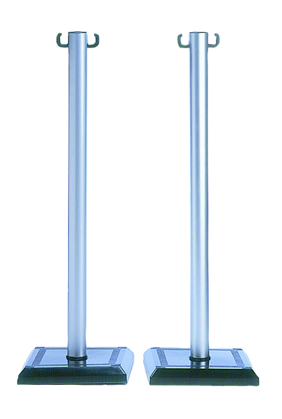 VFM Grey/Black PVC Barrier Post (2 Pack) 349735