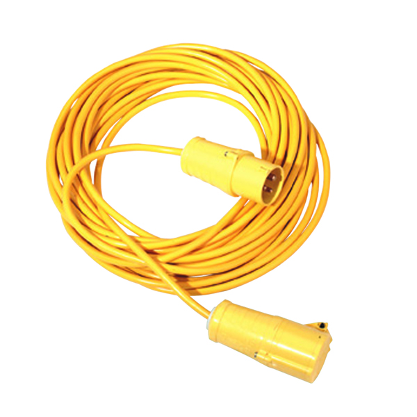 VFM Yellow 14 Metre 16 Amp Cable Extension Lead 349793