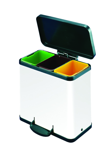 Trento Oko 3X11 Recycling Bin White 357453