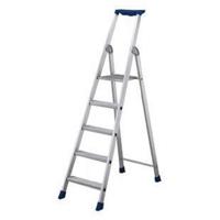9 Ribbed Tread Platform Step Ladder Aluminium (Pack of 1) 358759
