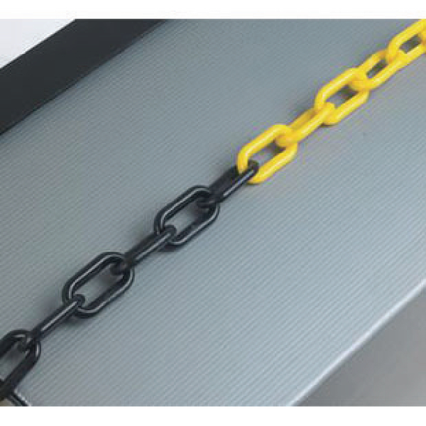 Plastic 6mm Black/Yellow Chain 360075