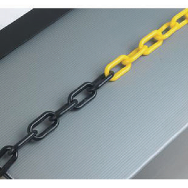 Plastic 8mm Black/Yellow Chain 360079