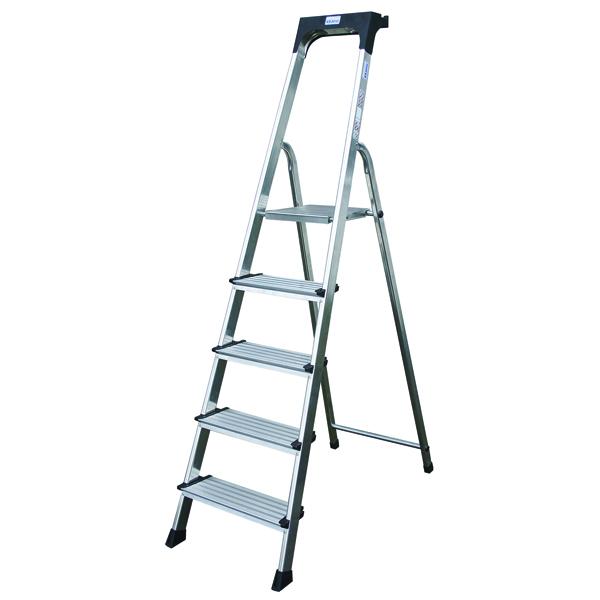 Comfort Aluminium Steps 5 Tread Silver 360996