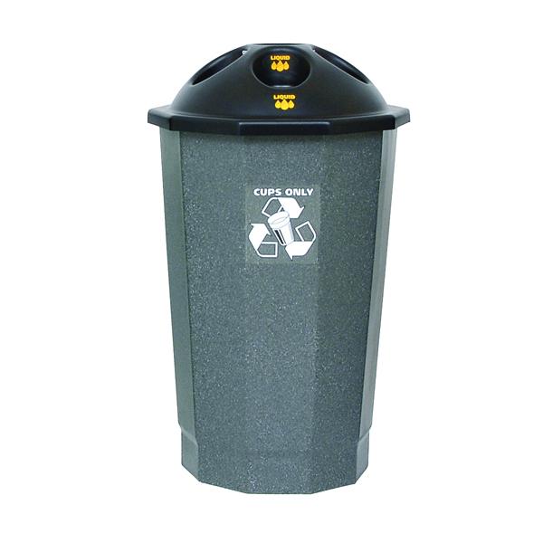 Black and Granite General Waste Bin Closed Flap 361032