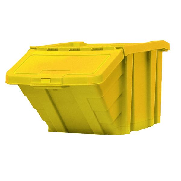 VFM Yellow Heavy Duty Recycle Storage Bin With Lid 369047