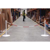 FD Ground Fixing Post H0.8M R/Wht 370450