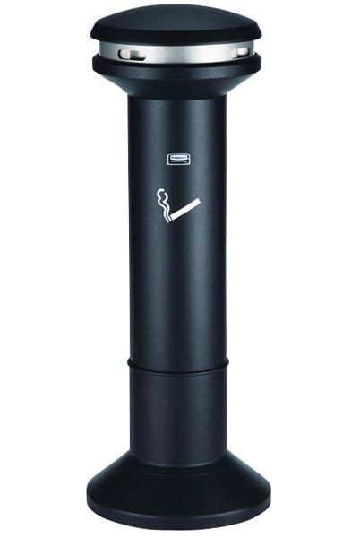 Silver and Black High Capacity Smoking Ash Stand 370785