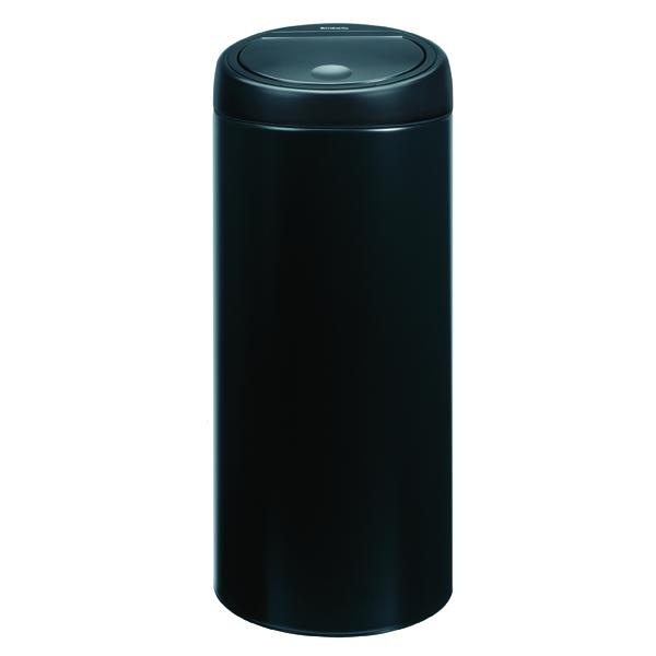 Touch Top Waste Bin 30 Litre Black 374039